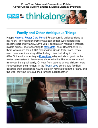 Preview of Thinkalong newsletter
