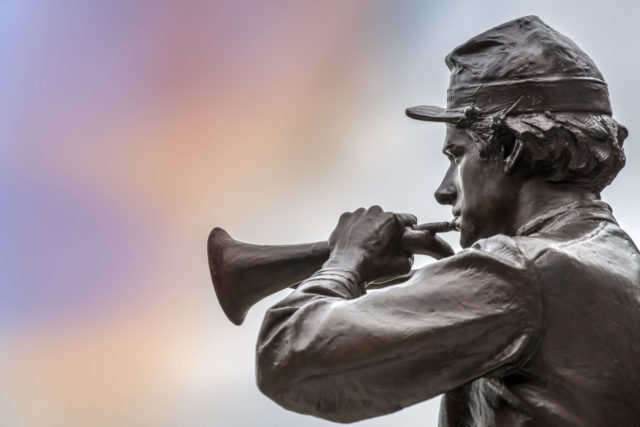Bugler Statue in Bronze
