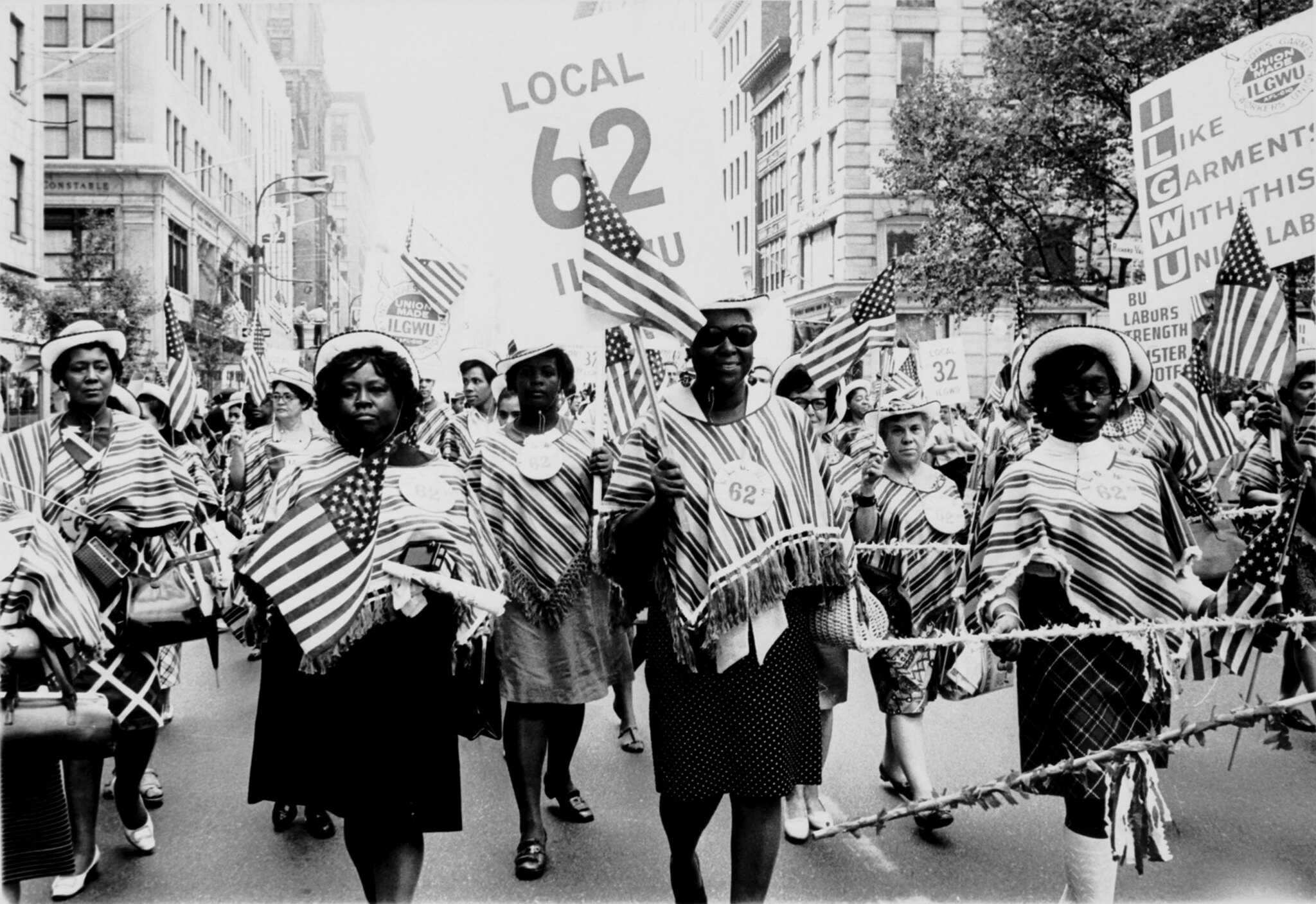 ILGWU Local 62 marches in a Labor Day parade.